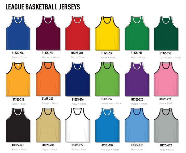 4de736698e7d5 Basketball Jerseys by Athletic Knit